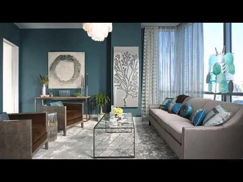 Дизайн интерьеров в бирюзовом цвете