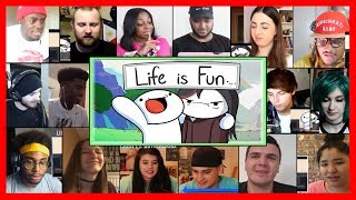 SUPER VERSION | Life is Fun (Ft. Boyinaband) Official Music Video REACTIONS MASHUP