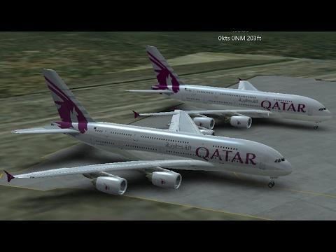 Infinite Flight Simulators broadcast. Qatar Airlines Airbus-A380/800-Takeoff Form San Diego IntI....