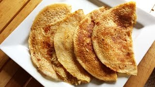 Wheat Dosa/Crepe with Coconut filling| Quick and Easy Breakfast Recipe