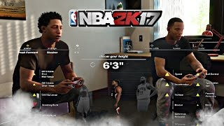 NBA 2K17 - MYPLAYER BUILD 6'3 SMALL FOWARD | SLASHER | MAKING A 6'5 PG SHARPSHOOTER ON OFFICIAL DAY
