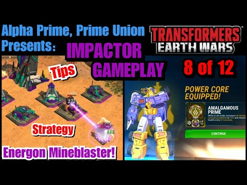 Impactor Gameplay & Amalgamous Core Review. TRANSFORMERS: Earth Wars
