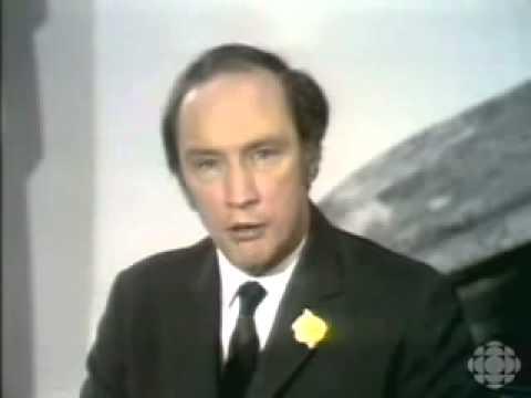 Pierre Trudeau War Measures Broadcast - October 16th 1970