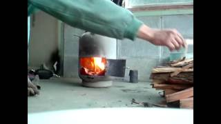 Repeat youtube video GasbotleWoodStove HandmadeTent Stove 自作テントストーブ