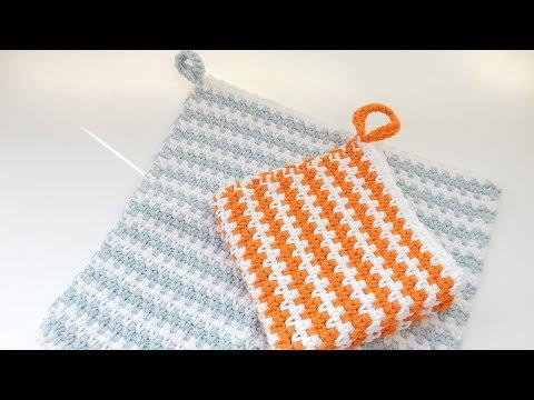 How to Crochet my Moss Stitch Washcloth