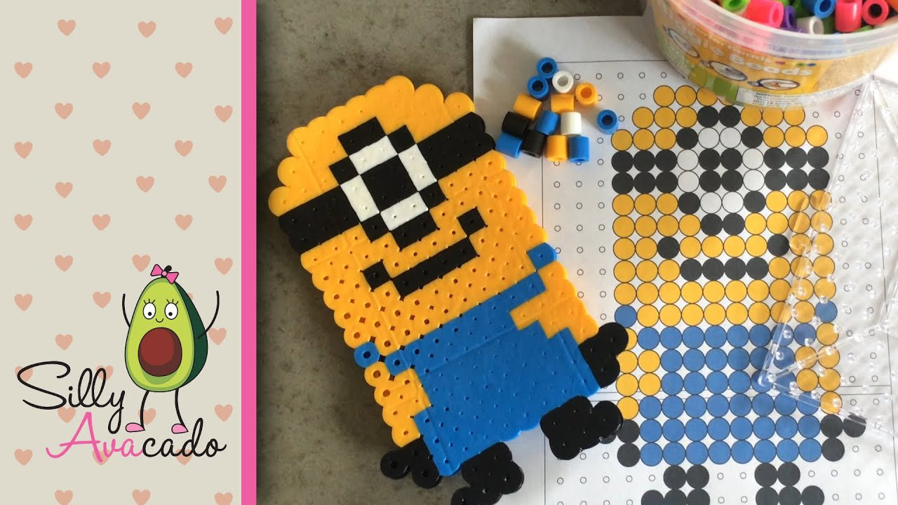 How To Make A Minion W Biggie Beads Template Included For Little