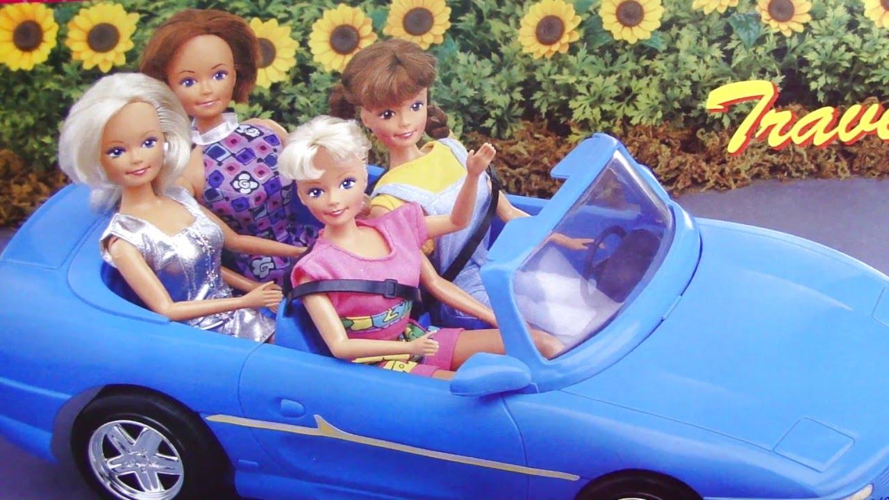 Машина для Барби. Обзор. Игрушки для девочек. Маша и Барби тестируют автомобиль