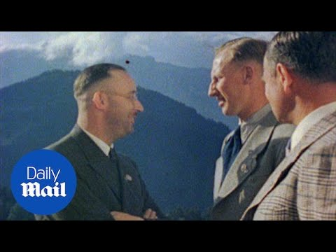 Reinhard Heydrich chats to Himmler at Hitler's estate in 1940 - Daily Mail