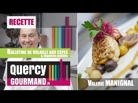 Recette : Ballotine de volaille aux cèpes, wok de légumes anciens – quercygourmand.tv