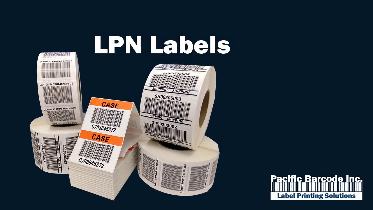 LPN Labels from Pacific Barcode Label Printing Solutions