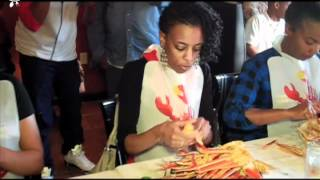 Ladies Crab Legs Eating Competition 33112.mov