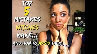 TOP 5 MISTAKES WITCHES MAKE!    #FAIL    BEHATILIFE