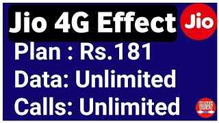 Jio Effect : Now Get Unlimited Data & Calls only in Rs.181 | Vodafone New Plan Rs.181
