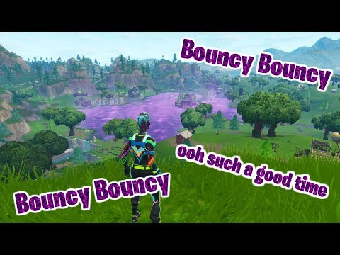 BOUNCY BOUNCY OOH SUCH A GOOD TIME... - Fortnite Loot Lake Cube Reaction