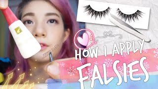 🌸 HOW I PUT MY FALSE LASHES WITH A TWEEZER | For Beginners | Philippines