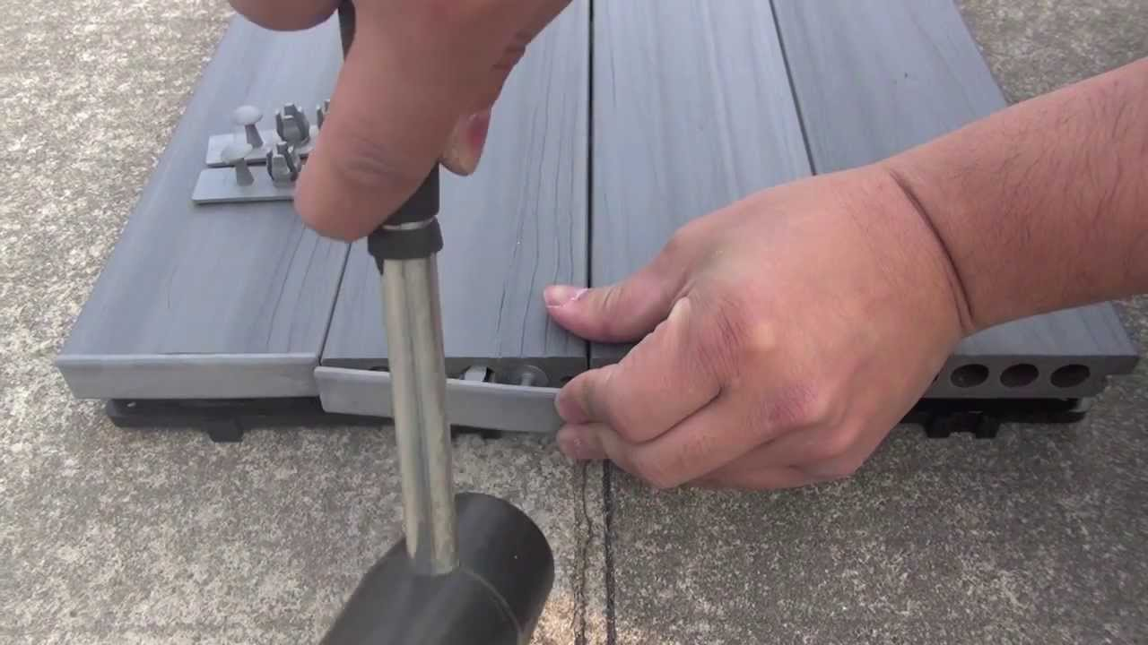 Deck A Floor End Cap Installation Youtube