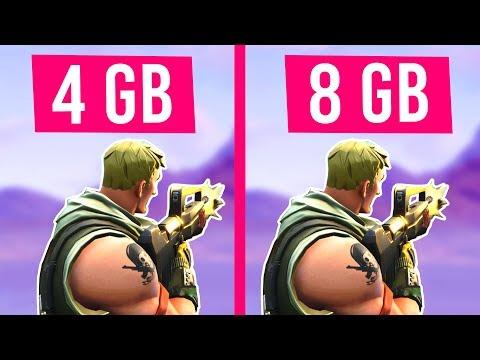 Fortnite 4GB RAM VS 8GB RAM - Does More RAM REALLY Matter?