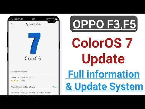 OPPO F3,F5 ColorOS 7 Update Full information & Update System