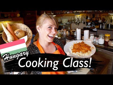 Americans Try Hungarian Food Cooking Class!