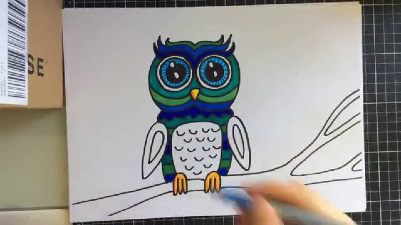 How To Draw A Cute Owl With Sharpies