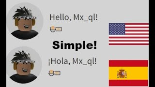 How to change Language on Roblox!