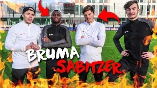 FUßBALL CHALLENGE VS MARCEL SABITZER & BRUMA VON RB LEIPZIG!