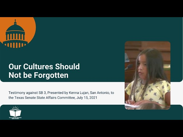 Our Cultures Should Not be Forgotten – Student Testimony