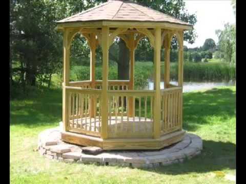 Garden gazebos garden gazebos in wood garden pavillons ...