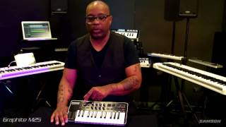Samson Graphite M25 mini USB MIDI controller overview with Kenneth Crouch