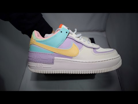 Nike Air Force 1 Shadow Pastel Pale Ivory Unboxing Youtube