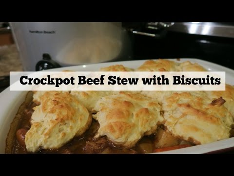 Crockpot Beef Stew With Biscuits | Crocktober YTMM Collab!