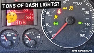 BOUGHT A VW GOLF WITH TONS OF LIGHT ON THE DASH ENGINE LIGHT, ABS LIGHT, AIRBAG LIGHT