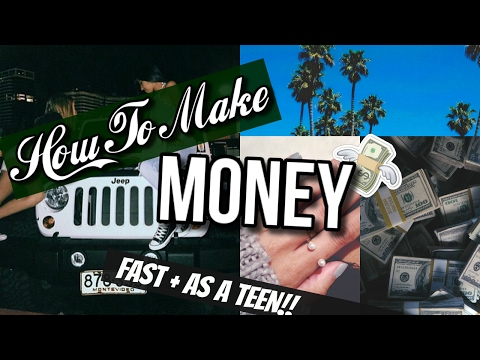 How To Make Money FAST As A 13 Year Old!!