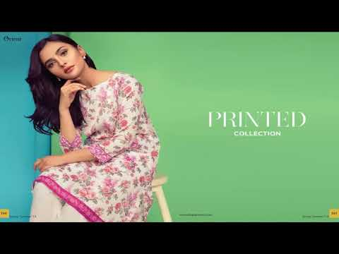 Orient S/S Embroidered Lawn Collection 2018