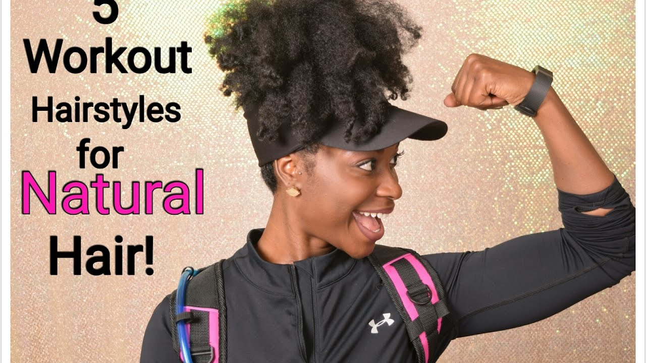 5 Easy Workout Hairstyles For Natural Hair Youtube