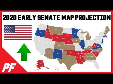 Early 2020 Senate Map Races Projection - 2020 Senate Elections Predictions