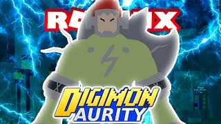 Digimon Aurity - DIGIVOLVING TO BOLTMON!! (Roblox Gameplay)