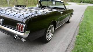 1966 MUSTANG CONVERTIBLE 289 AUTO PS SOLID  CALIFORNIA CAR BEAUTIFUL BLACK VERY NICE