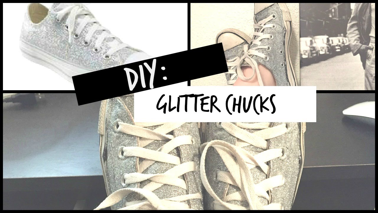 DIY Glitter Converse - YouTube 52141e96c