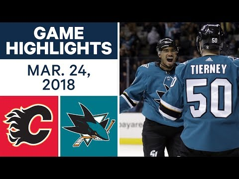 NHL Game Highlights | Flames vs. Sharks - Mar. 24, 2018
