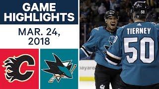 NHL Game Highlights   Flames vs. Sharks - Mar. 24, 2018
