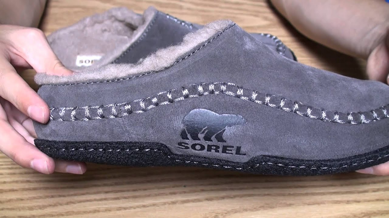 593e13b7ff3a Sorel Men s Falcon Ridge Slipper Shale (for winter) - YouTube