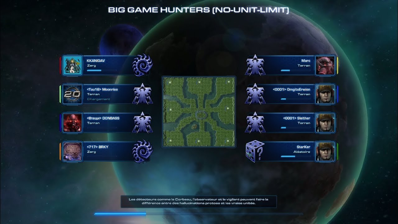 StarCraft II - Big Game Hunters - No-Unit-Limit - TERRAN !