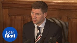 Steven Gerrard unveiled as Rangers manager: full press conference - Daily Mail