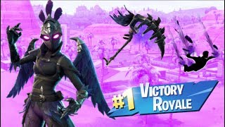 "*NEW* FEMALE RAVEN ""RAVAGE"" SKIN GAMEPLAY!!! / *NEW* RAVEN FEATHER CONTRAIL (Fortnite)"