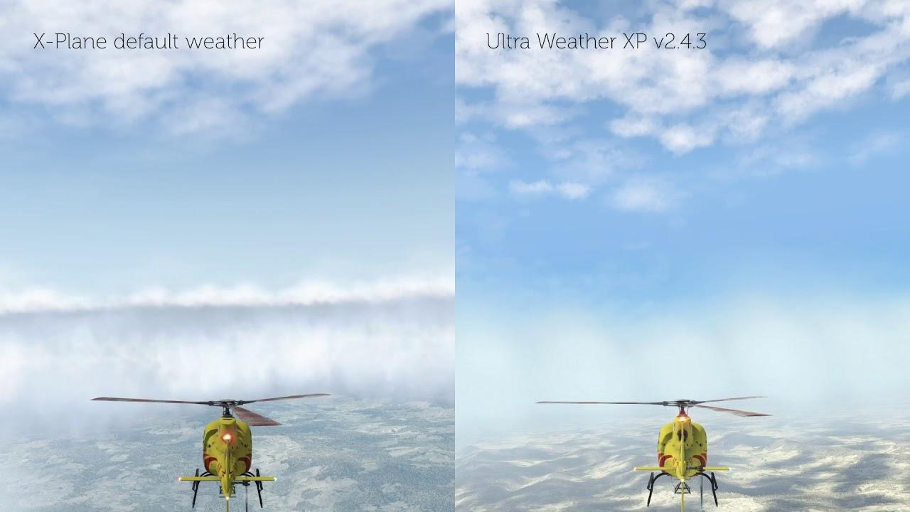 [X-Plane 11] Weather Comparison - default weather ...