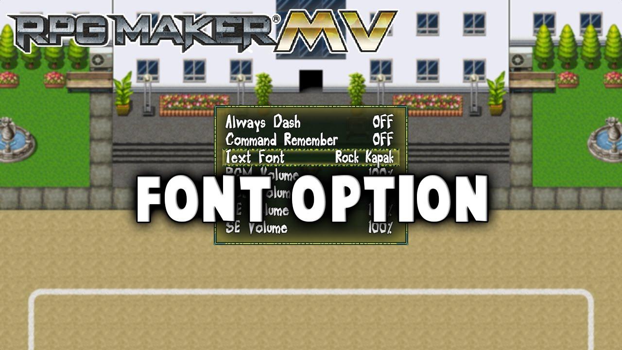 Font Option – MV Plugin – RPG Maker MV Plugins