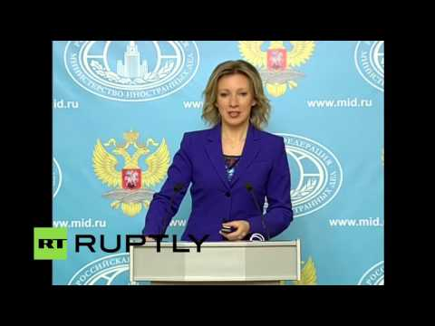 Live: spokesman for the Russian foreign Ministry's weekly press conference