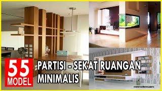 55 Desain Sekat Partisi Ruangan Minimalis dan Rak TV Terbaru Nan Elegan