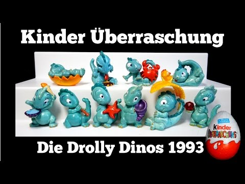 Die Drolly Dinos 1993 / Kinder Überraschung / Kinder Surprise Egg Figures